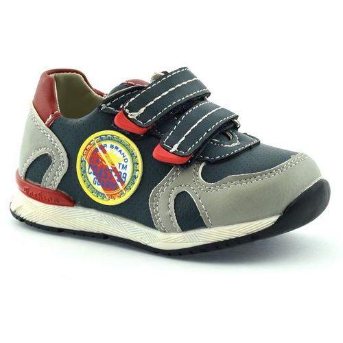 American club Dziecięce buty sportowe 5318-03 - szary ||granatowy