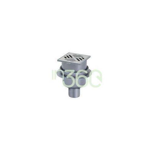 system 100 wpust łazienkowy pionowy classic z kratką szczelinową 10 x 10 ze stali nierdzewnej- odpływ pionowy dn 50 40250.20 marki Kessel