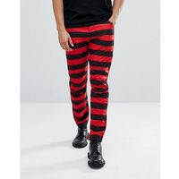 elwood 5622 x 25 pharrell jeans in stripe - red, G-star