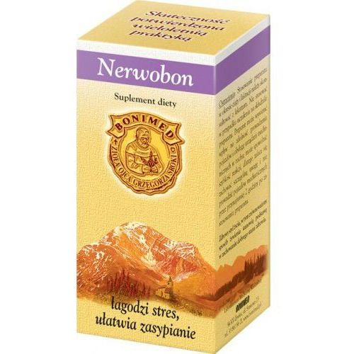 NERWOBON 30 KAPSUŁEK Ziołowy preparat na Stres Nerwy Bezsenność (5908252932405)
