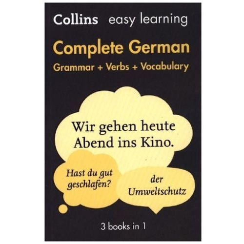 Easy Learning Complete German Grammar, Verbs and Vocabulary (3 Books in 1) (9780008141783)