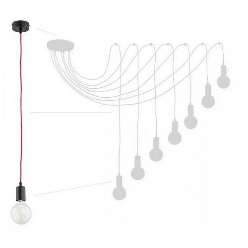 Lemir maris o2757 w7 cza + cze lampa wisząca zwis pająk 7x60w e27 czarny mat / czerwony