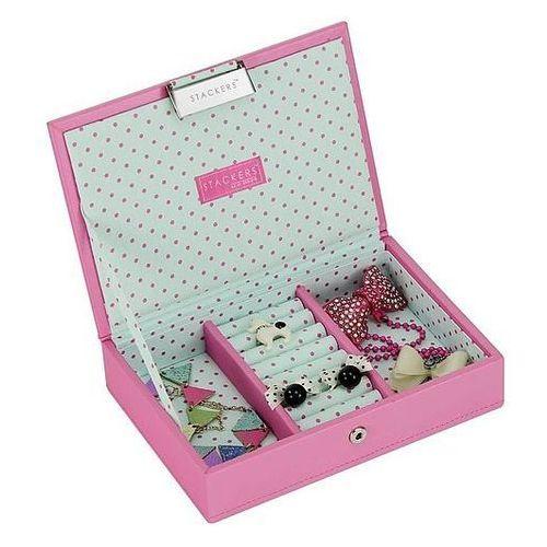 Stackers Pudełko na biżuterię dla dzieci z pokrywką mini junior różowe