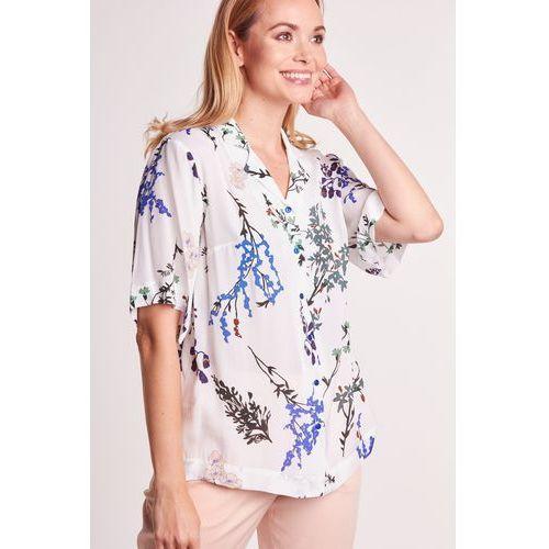 Biała koszula w kwiaty - Duet Woman, 1 rozmiar