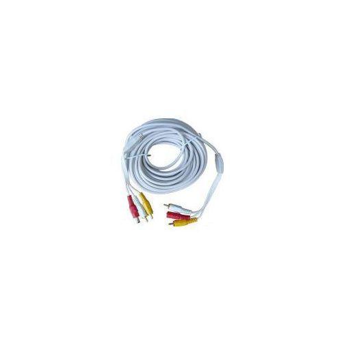 C.f.l. Gotowy kabel av/dc do kamer - 10m.