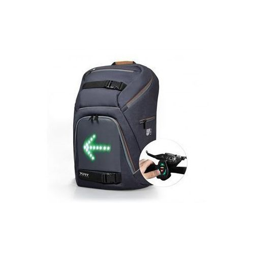 "go led backpack with integrated led indicator system fits up to size 15.6 "", black, waterproof marki Port designs"
