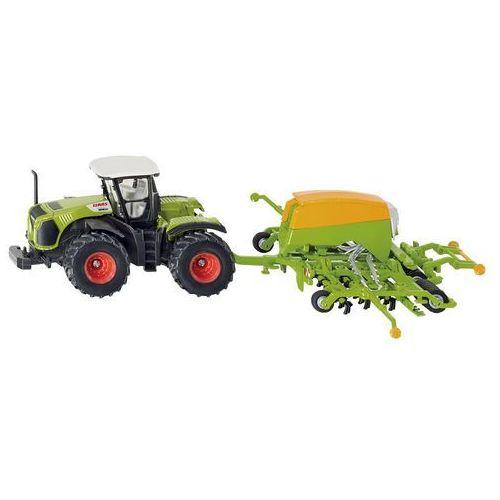 Zabawka traktor claas 5000 xerion z siewnikiem amazone marki Siku