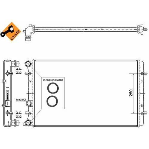 Chłodnica, układ chłodzenia silnika NRF 509529 (8718042046581)