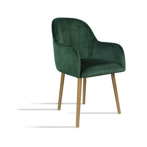 Krzesło BESSO zielony/ noga złota/ SO260, 28 dni roboczych