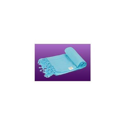 Sauna ręcznik hammam 100%bawełna 185/90 ajur 2 błękit marki Import