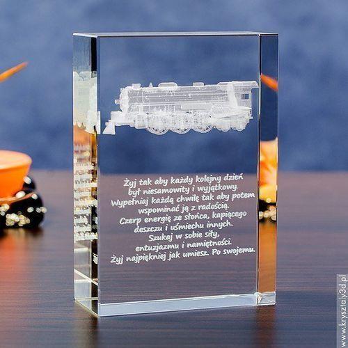 OKAZJA - Lokomotywa 3D • personalizowany kryształ 3D średnia • GRAWER 3D