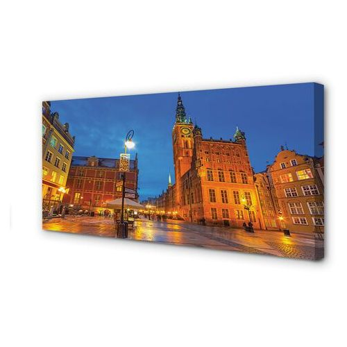 Obrazy na płótnie gdańsk stare miasto noc kościół marki Tulup.pl