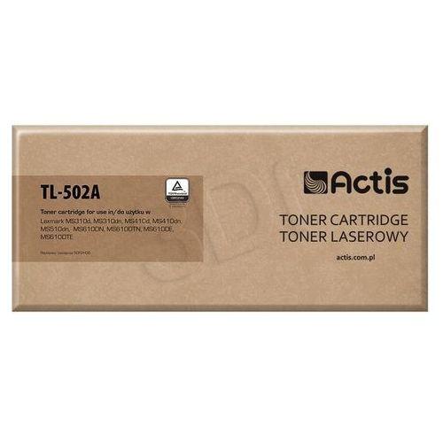 Toner tl-502a black do drukarek lexmark (zamiennik lexmark 502h / 50f0ha0) [5k] marki Actis