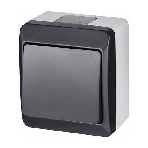 Włącznik pojedynczy IP44 Szary/antracytowy ELEKTRO-PLAST (5902431697680)