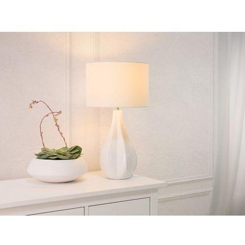 Nowoczesna lampka nocna - lampa stojąca w kolorze białym - SANTEE (7081456900314)