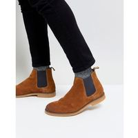 suede chelsea boots in tan - tan, River island