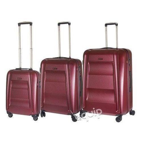 Zestaw walizek Puccini New York PC017 - wiśniowy