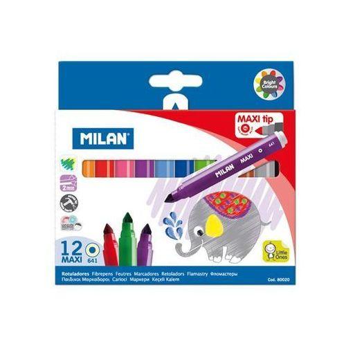 Flamastry maxi 12 kolorów MILAN