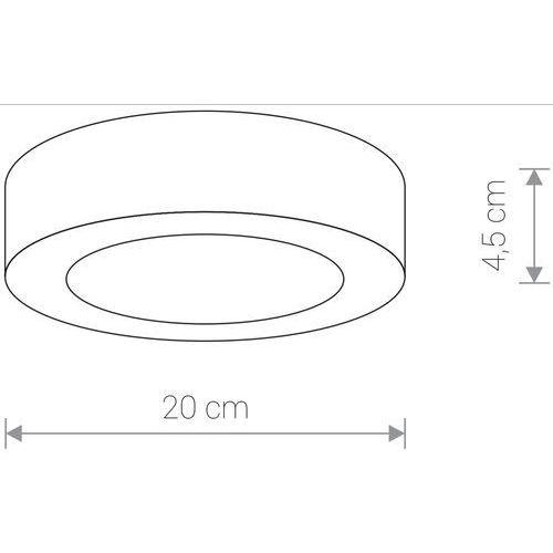 Nowodvorski Zewnętrzna lampa sufitowa merida 12w led 9514 okrągła oprawa plafon outdoor ip54 grafitowa (5903139951494)