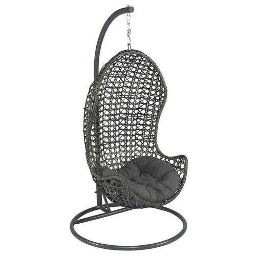 Piekny fotel wiszący ogrodowy szary w 24h! dobrebaseny marki Pure garden & living