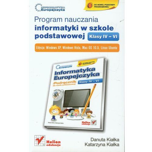 Program nauczania informatyki w szkole podstawowej klasy IV-VI, książka z kategorii Informatyka