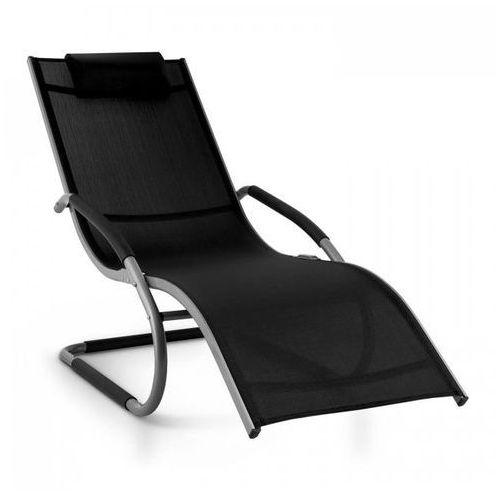 sunwave leżak ogrodowy leżak relaksacyjny bujający aluminium czarny marki Blumfeldt