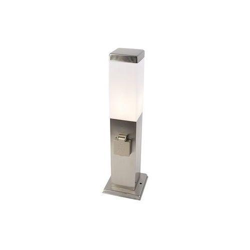 Lampa zewnętrzna stal 45cm z gniazdem ip44 - malios marki Qazqa