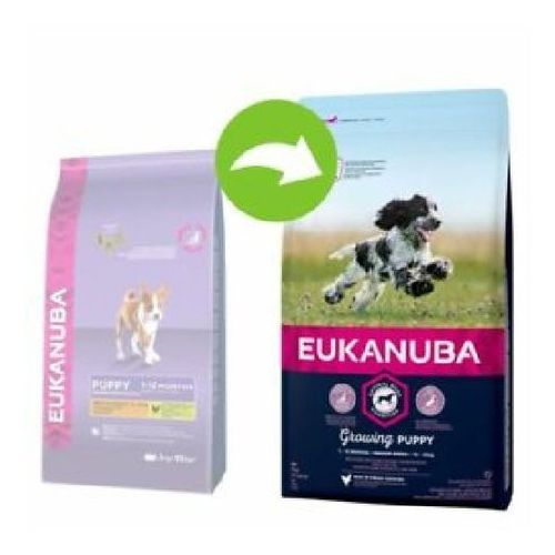 EUKANUBA Growing Puppy Medium Breed 3kg - 3kg