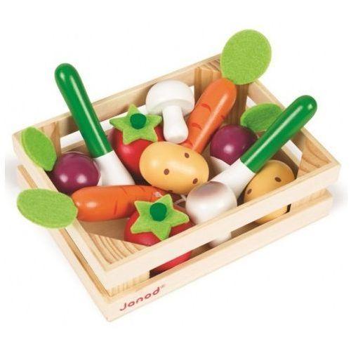 Drewniane warzywa 12 szt. w skrzyneczce Janod J05611 (3700217356118)