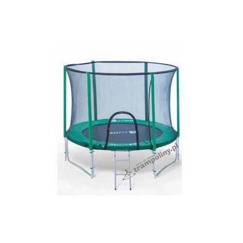 Gofit  2.0 244 cm pro - trampolina ogrodowa z siatką zabezpieczającą + drabinka