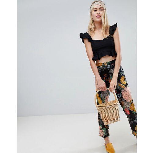 pixi floral trousers - black, Brave soul, 38-40