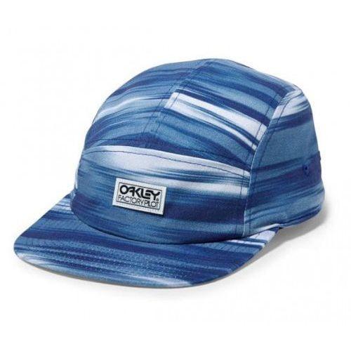 Czapka z daszkiem Oakley Factory Pilot 5 Pannel Imperial Blue, kolor niebieski