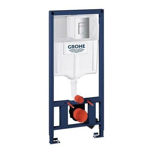 Stelaż podtynkowy WC Grohe Solido z pionowym wzmocnieniem z przyciskiem Even Chrom