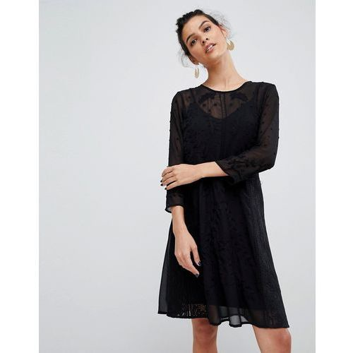 embroidered lace dress - black marki Y.a.s