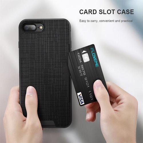 E-webmarket Etui 360 pro z miejscem na kartę kredytową dla iphone 8 - różowe - różowy \ iphone 8