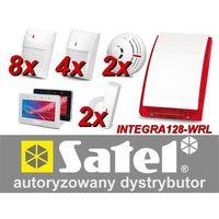 Satel Zestaw alarmowy integra 128-wrl, klawiatura dotykowa, 8 czujników ruchu pet, 4 czujniki ruchu dualne pet, 2 czujniki zalan