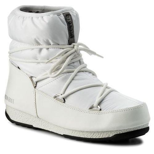Śniegowce MOON BOOT - W.E. Low Nylon Wp 24006200002 Bianco/Argento, w 4 rozmiarach