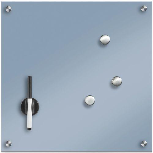 Zeller Szklana tablica magnetyczna memo, jasnoniebieski + 3 magnesy, 40x40 cm,