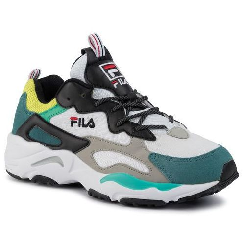 Sneakersy - ray tracer 1010685.13c black/everglade/acid lime, Fila, 41-45