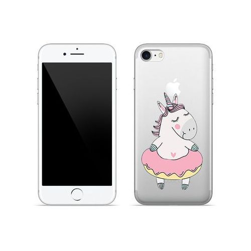 Apple iPhone 7 - etui na telefon Crystal Design - Różowy jednorożec, ETAP403CRDGDG016000