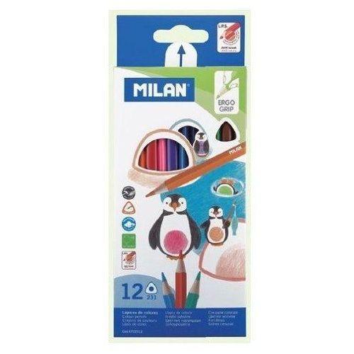Kredki 12 kolorów trójkątne marki Milan
