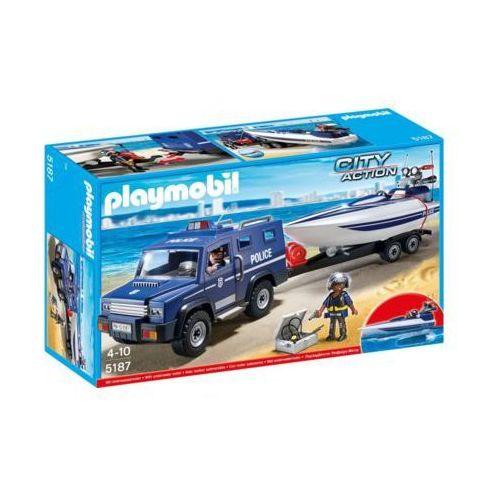 Pojazd terenowy policji z motorówka 5187 - darmowa dostawa od 199 zł!!! marki Playmobil
