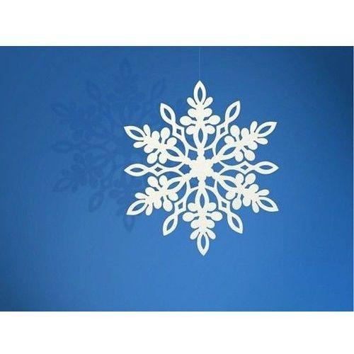 Party deco Zawieszka śnieżynka - 11 cm - 10 szt.
