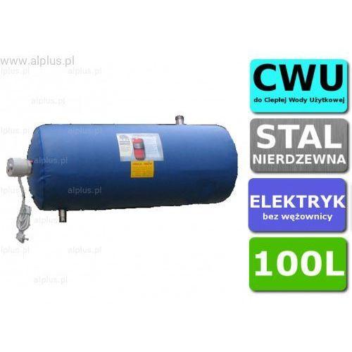 Alplus Bojler elektryczny nierdzewny 100l poziomy, z grzałką 2kw lub inną do wyboru, 100 litrów, bez wężownicy, wysyłka gratis