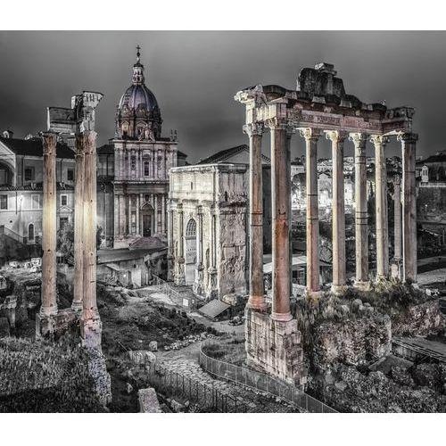 Consalnet Fototapeta rzym – śladem starożytności w odcieniach szarości 1334