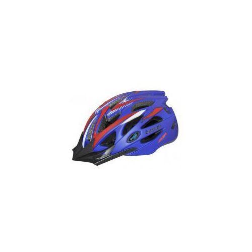 Axer sport Kask rowerowy axer lizard blue/red daszek xl ultra light