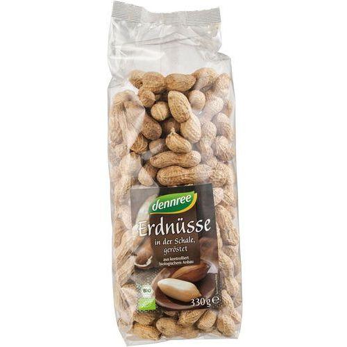 Orzeszki ziemne prażone w łupinach bio 330 g - dennree marki Dennree (dżemy, miody, herbaty)