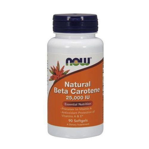 Now Foods Natural Beta Carotene (Beta Karoten) 25,000IU 90 kaps. - sprawdź w wybranym sklepie