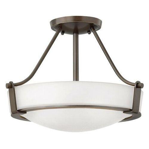 Lampa sufitowa hathaway z dystansem, brąz Ø 41 cm marki Elstead