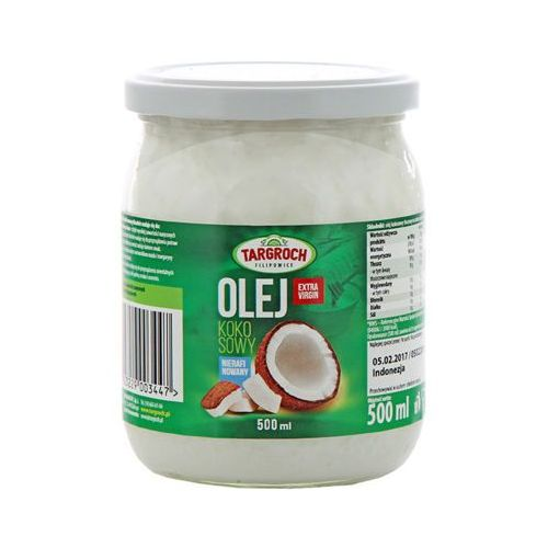 500ml olej kokosowy nierafinowany extra virgin marki Targroch